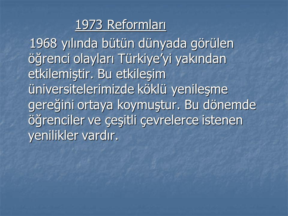 1973 Reformları