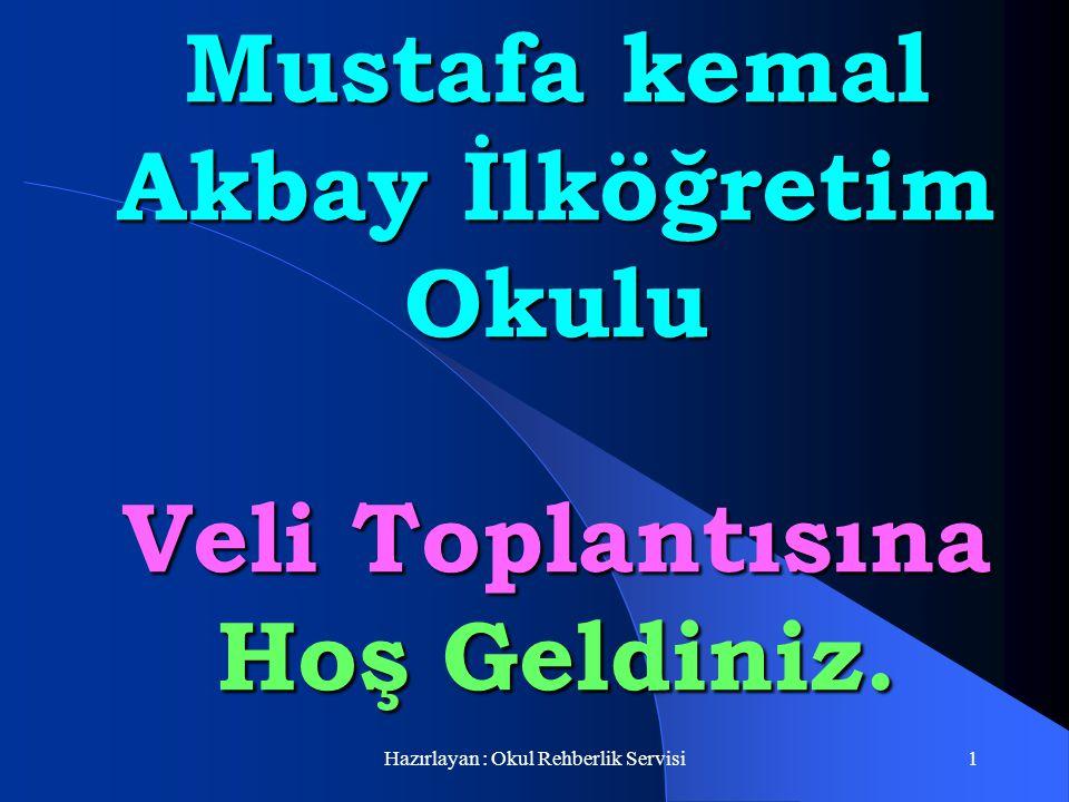 Mustafa kemal Akbay İlköğretim Okulu Veli Toplantısına Hoş Geldiniz.