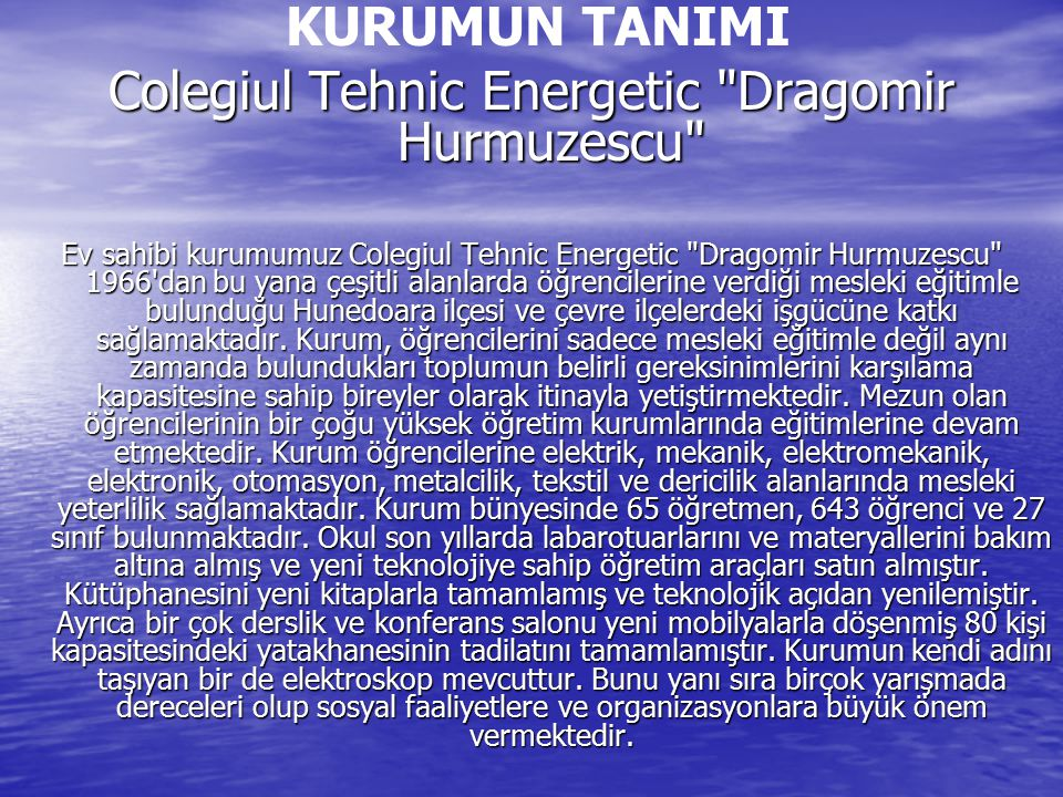 Colegiul Tehnic Energetic Dragomir Hurmuzescu