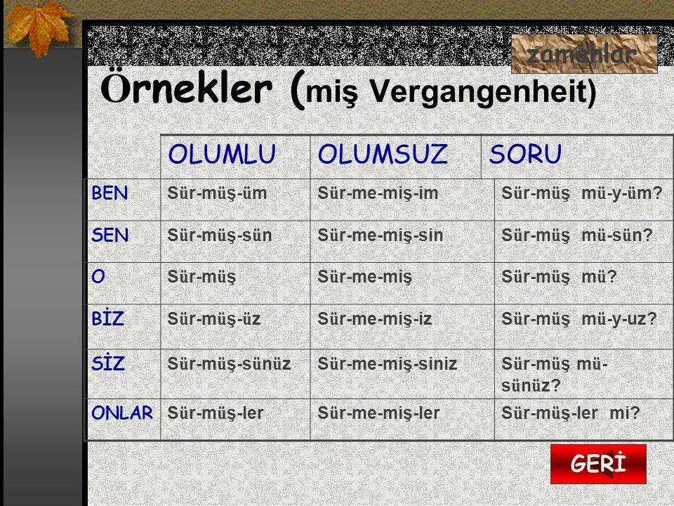 Örnekler (miş Vergangenheit)