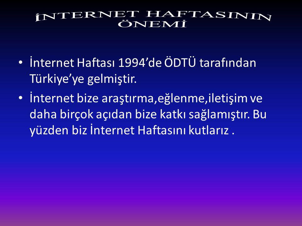 İNTERNET HAFTASININ ÖNEMİ