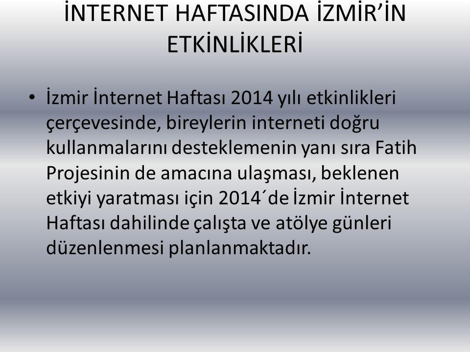 İNTERNET HAFTASINDA İZMİR'İN ETKİNLİKLERİ