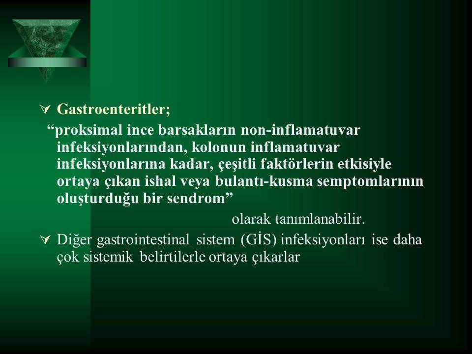 Gastroenteritler;