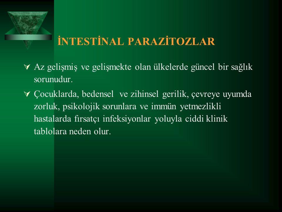 İNTESTİNAL PARAZİTOZLAR