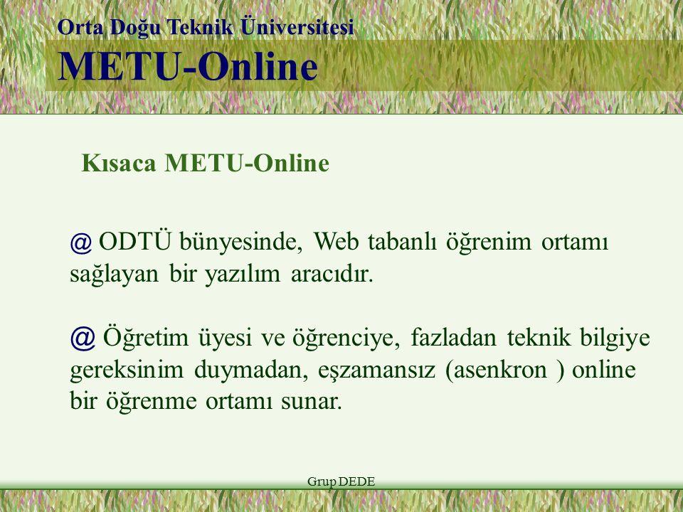 METU-Online Kısaca METU-Online