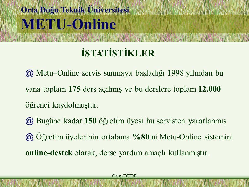 METU-Online İSTATİSTİKLER Orta Doğu Teknik Üniversitesi