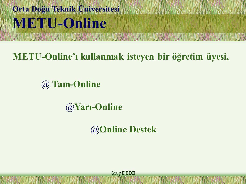 METU-Online METU-Online'ı kullanmak isteyen bir öğretim üyesi,