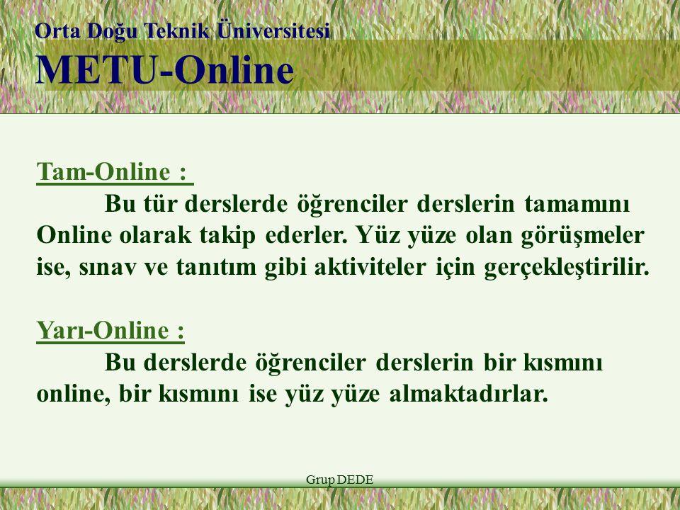 METU-Online Tam-Online :
