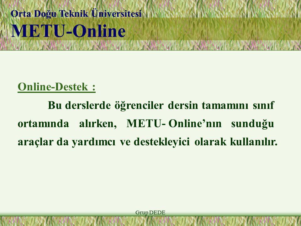 METU-Online Online-Destek :
