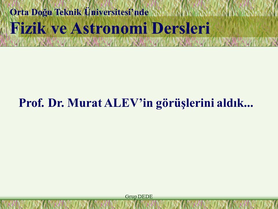 Fizik ve Astronomi Dersleri