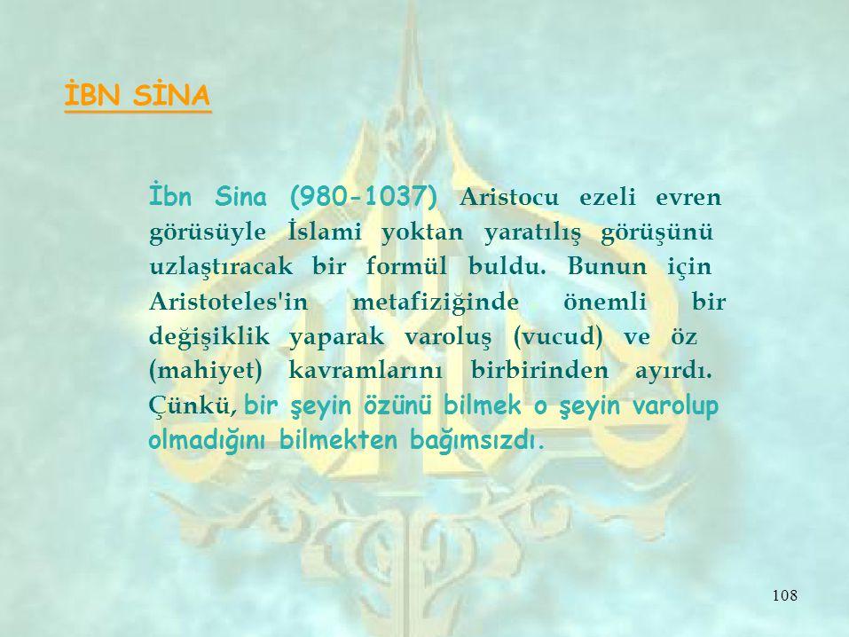 İbn Sina (980-1037) Aristocu ezeli evren