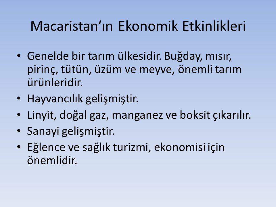 Macaristan'ın Ekonomik Etkinlikleri
