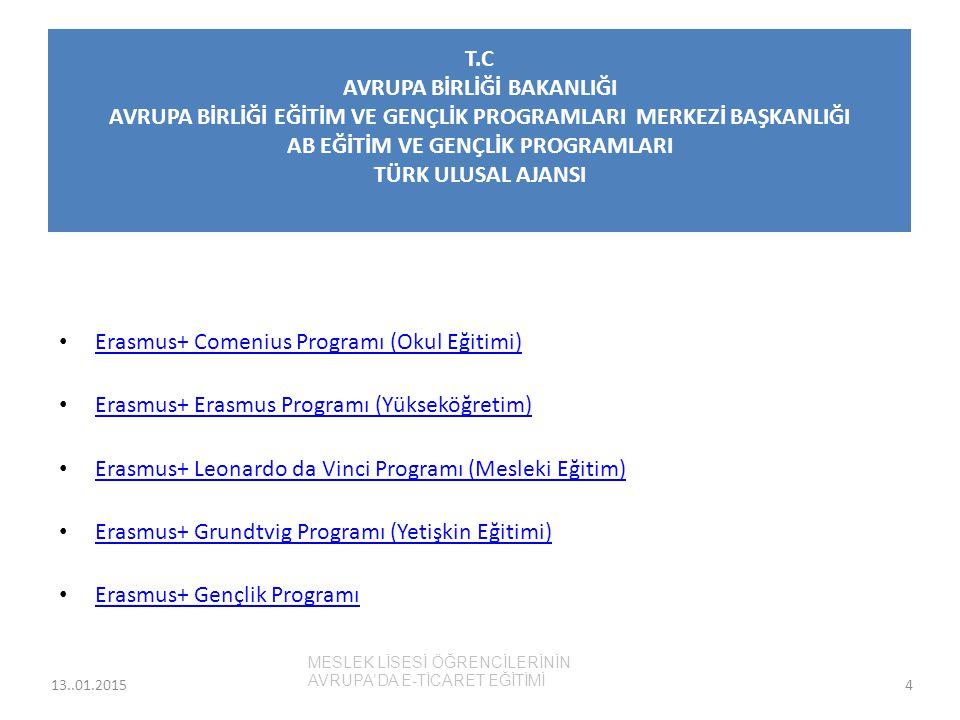 Erasmus+ Comenius Programı (Okul Eğitimi)