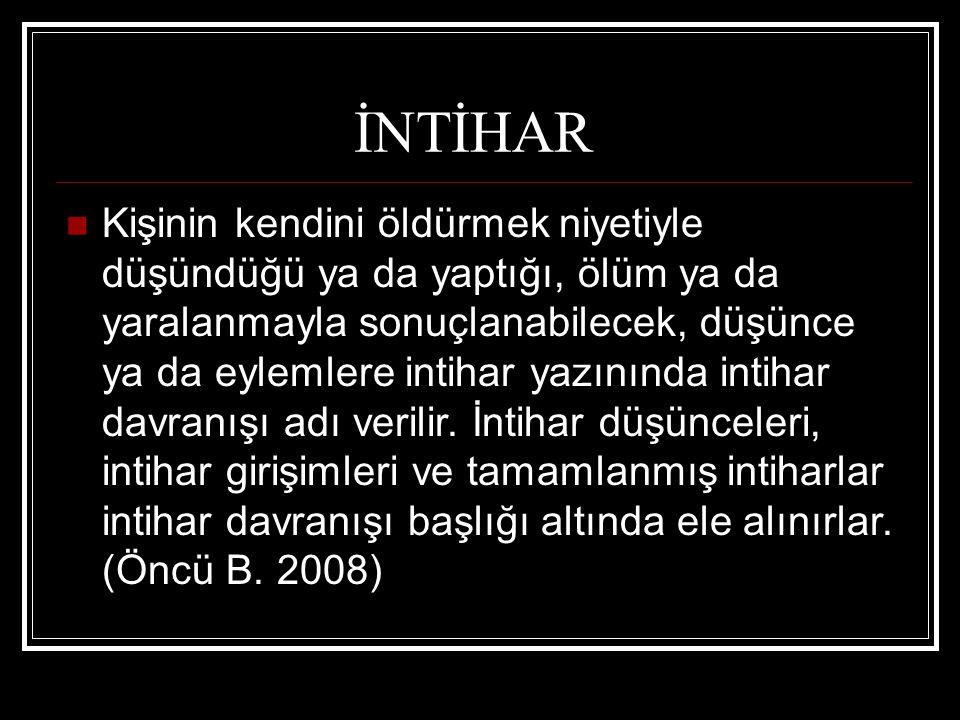 İNTİHAR