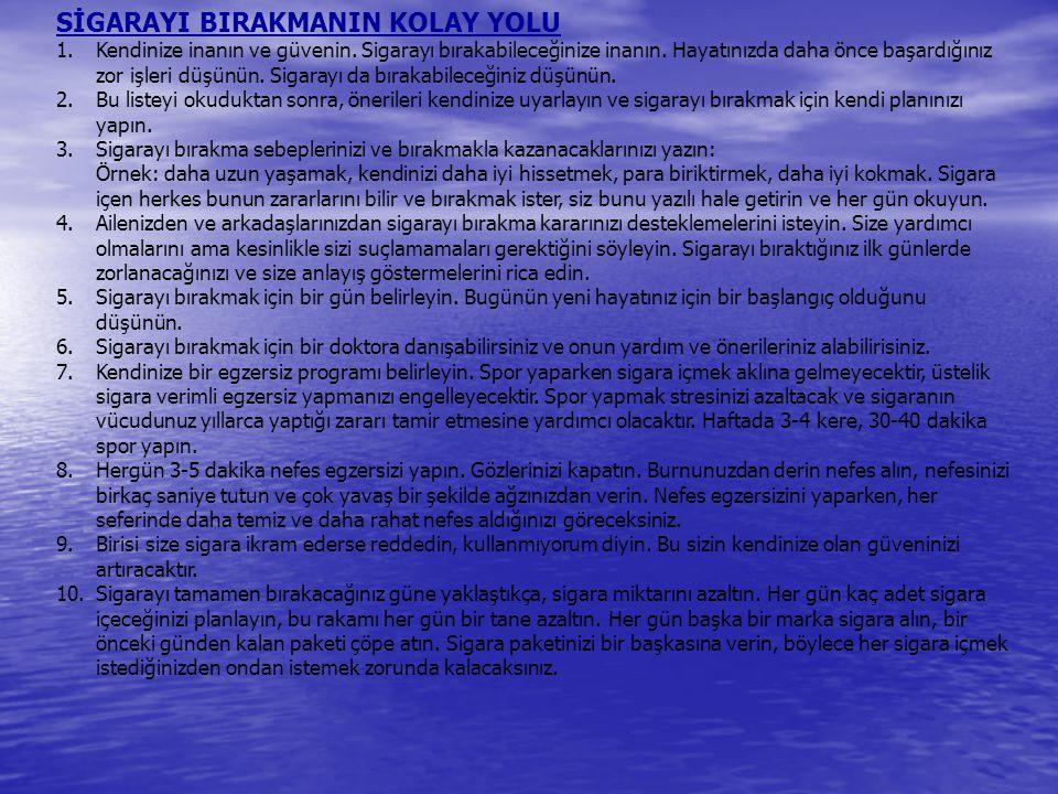 SİGARAYI BIRAKMANIN KOLAY YOLU