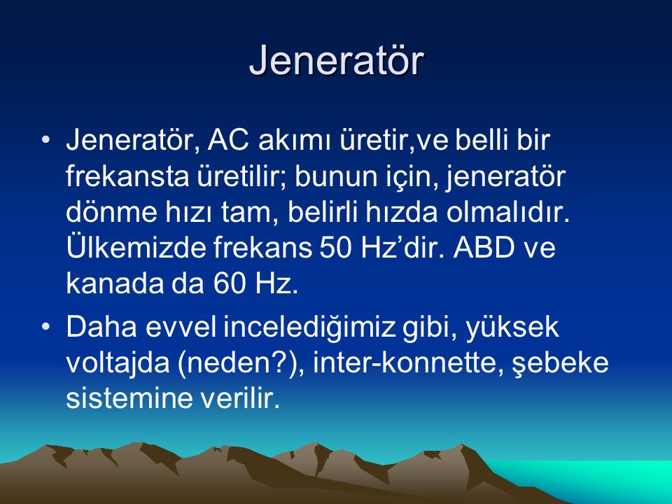 Jeneratör
