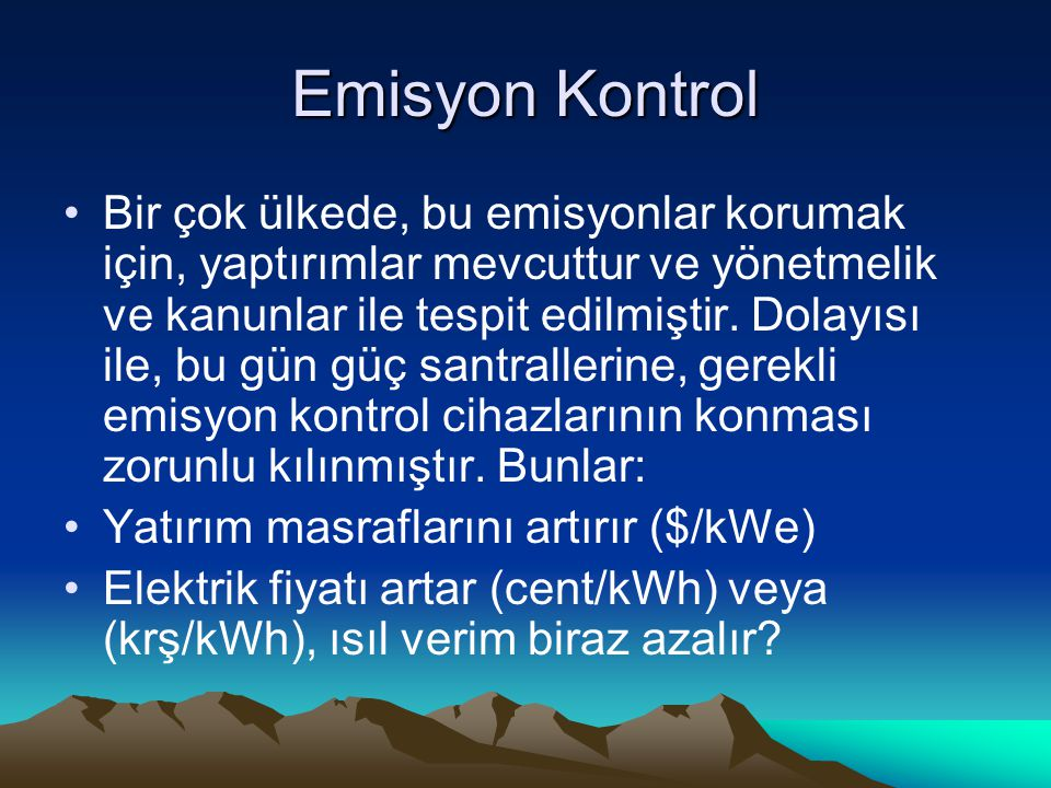 Emisyon Kontrol