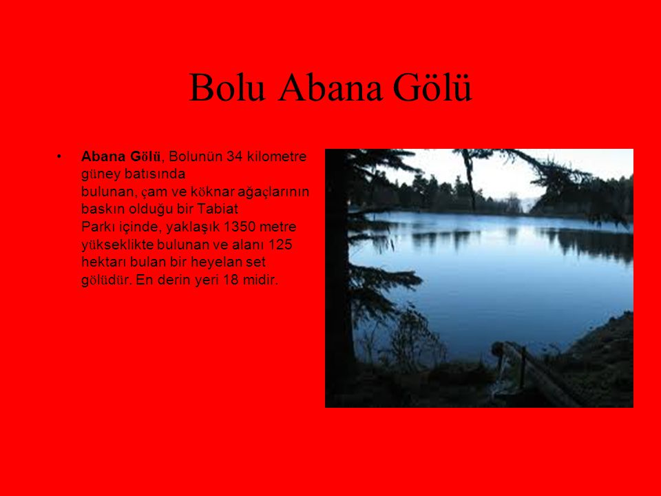 Bolu Abana Gölü