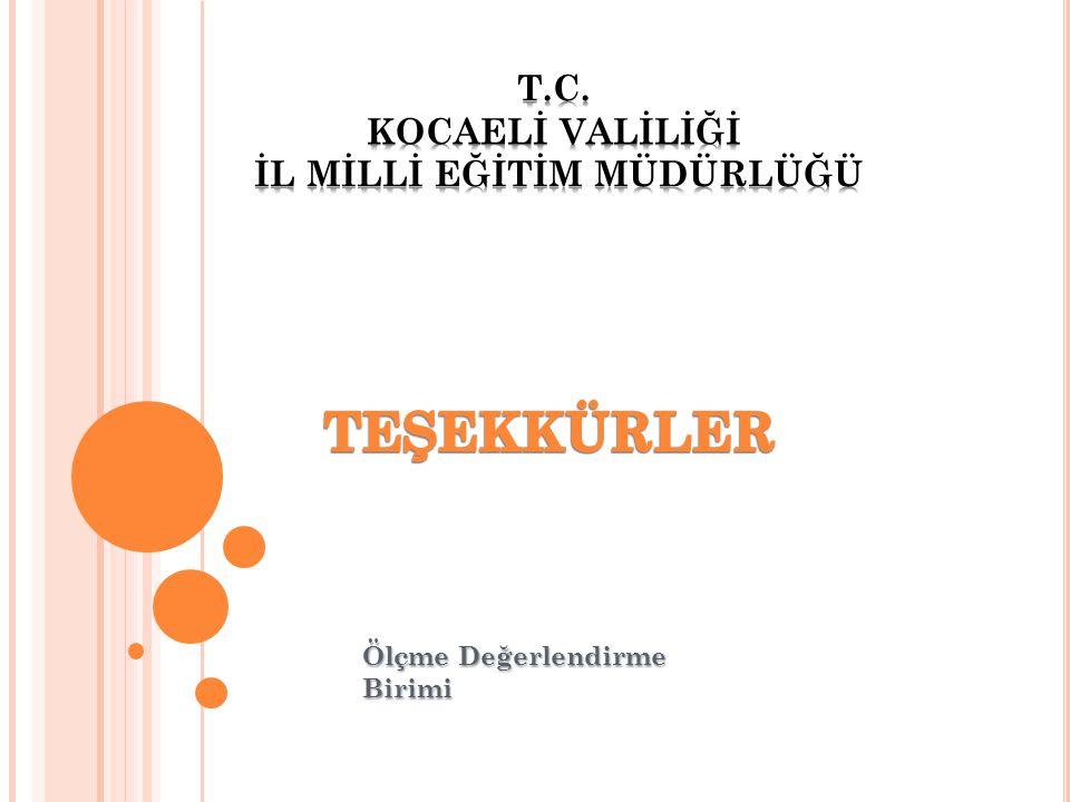 T.C. KOCAELİ VALİLİĞİ İL MİLLİ EĞİTİM MÜDÜRLÜĞÜ