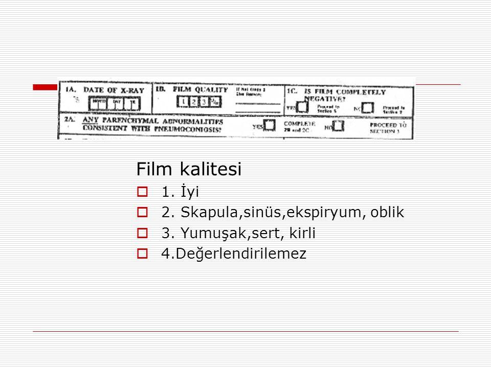 Film kalitesi 1. İyi 2. Skapula,sinüs,ekspiryum, oblik