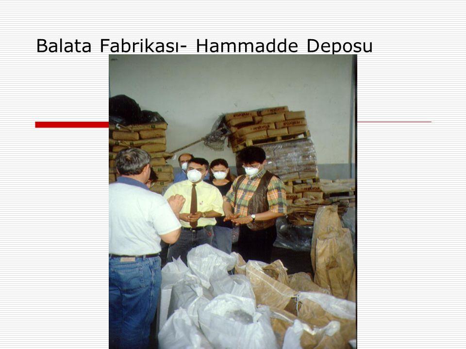 Balata Fabrikası- Hammadde Deposu