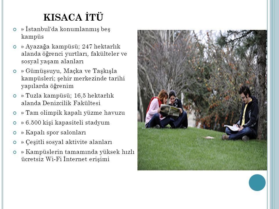 KISACA İTÜ » İstanbul da konumlanmış beş kampüs