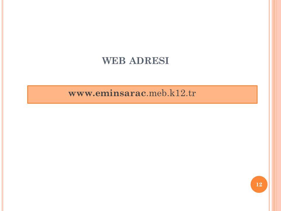 web adresi www.eminsarac.meb.k12.tr