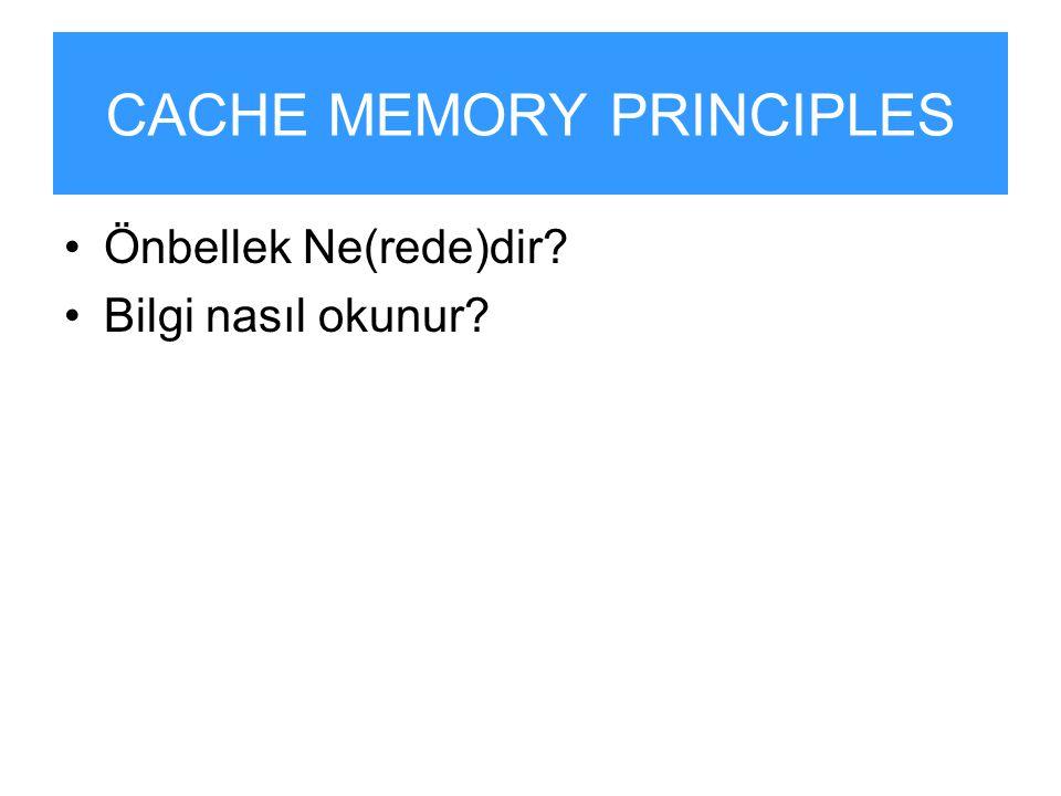 CACHE MEMORY PRINCIPLES