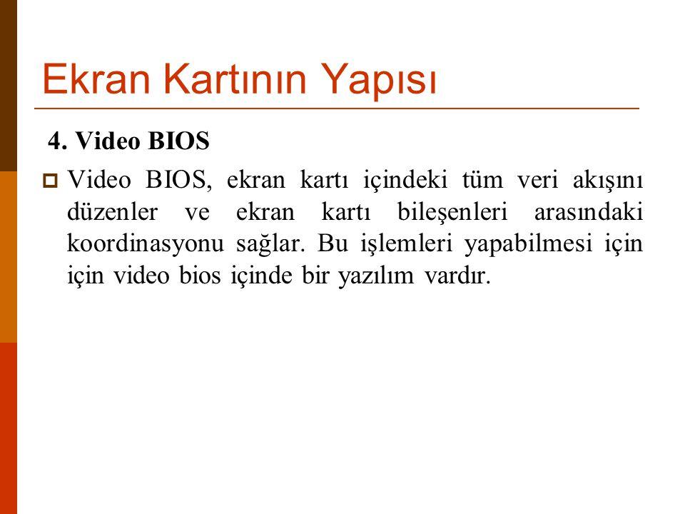 Ekran Kartının Yapısı 4. Video BIOS
