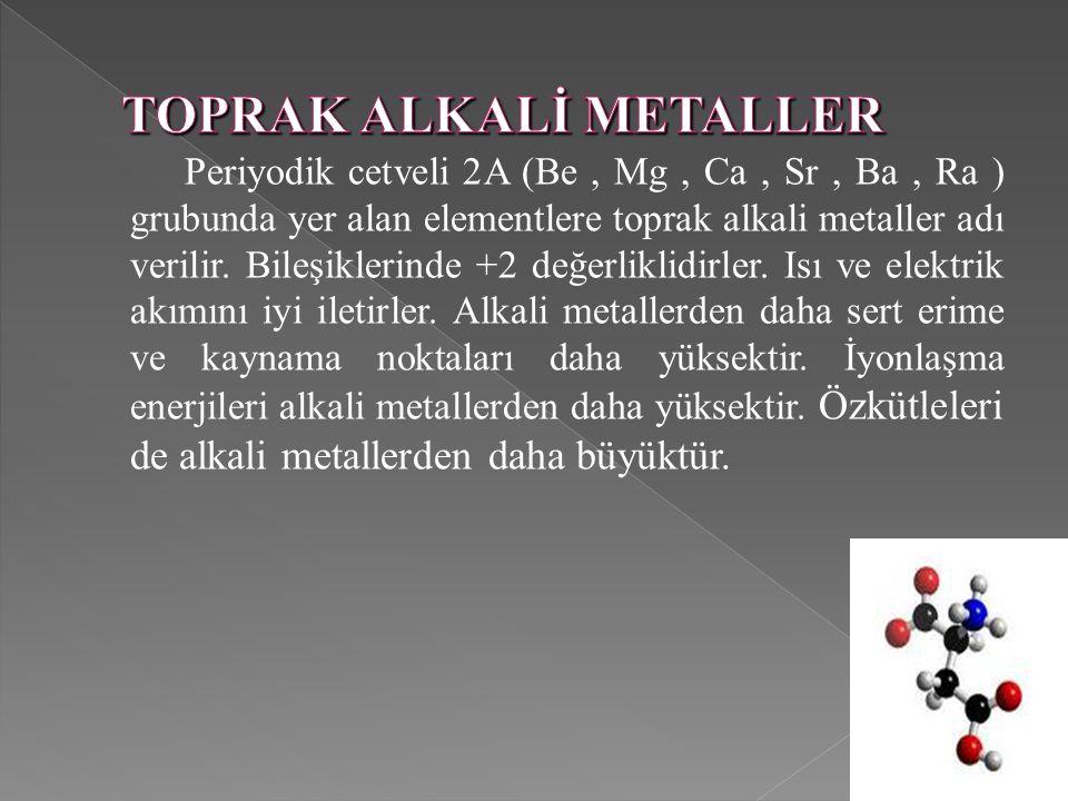 TOPRAK ALKALİ METALLER