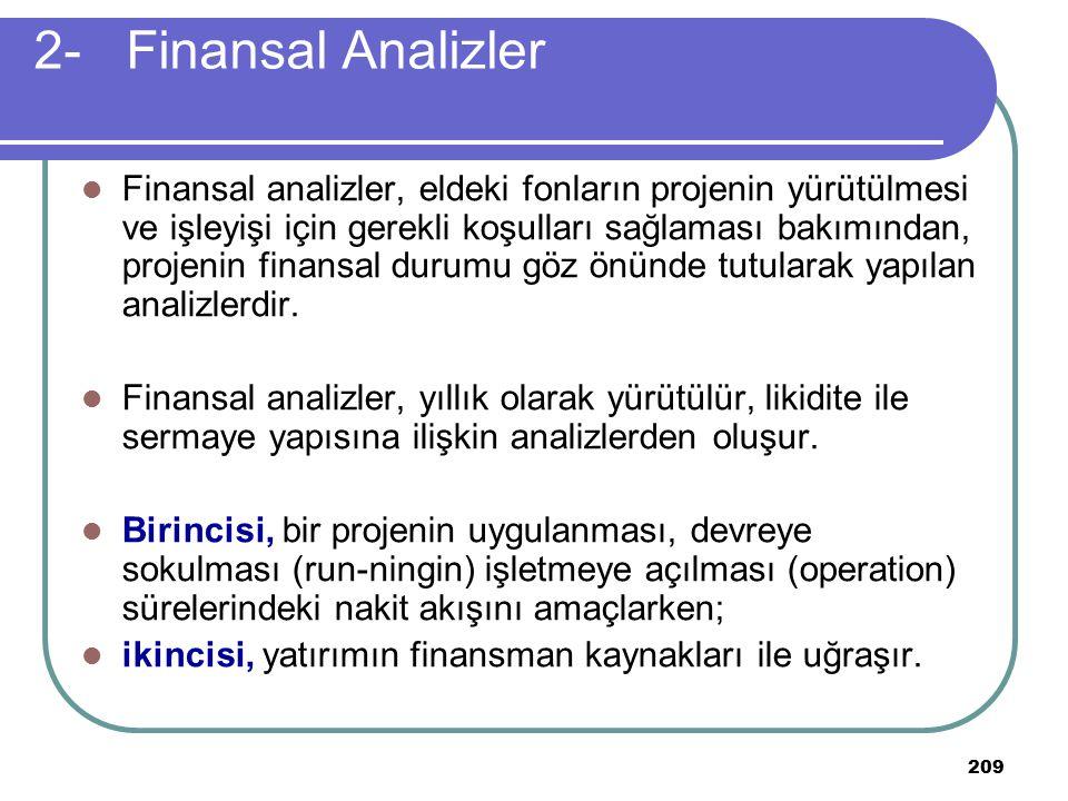 2- Finansal Analizler