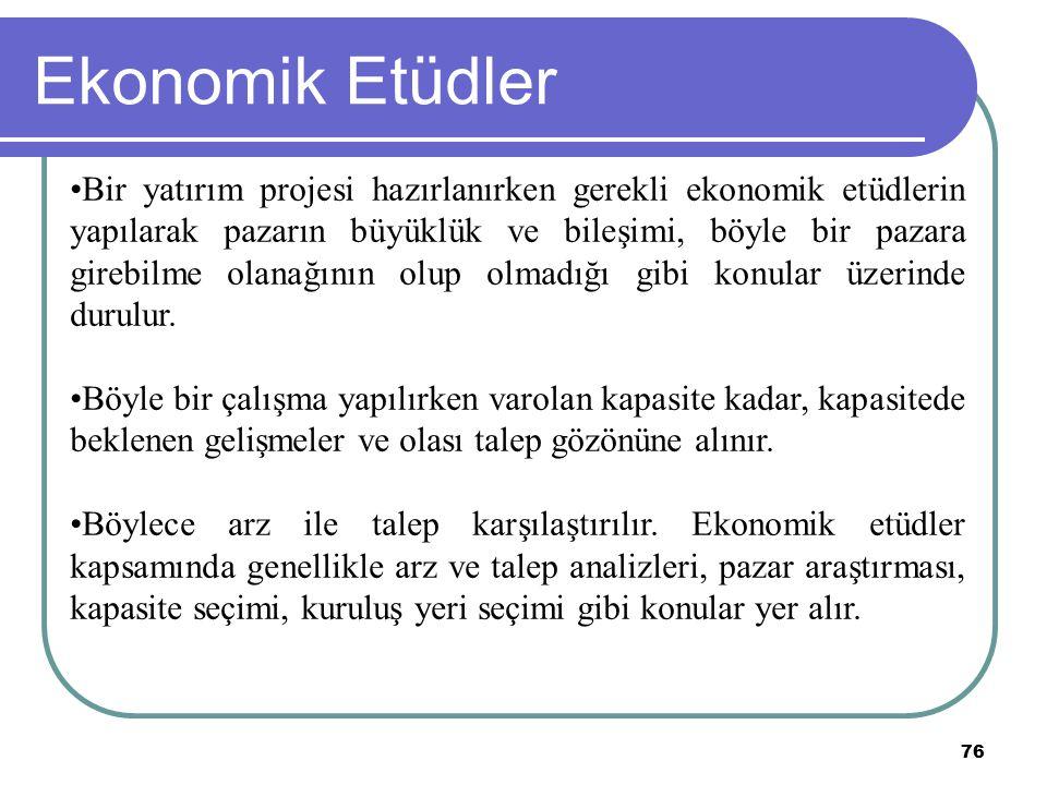 Ekonomik Etüdler