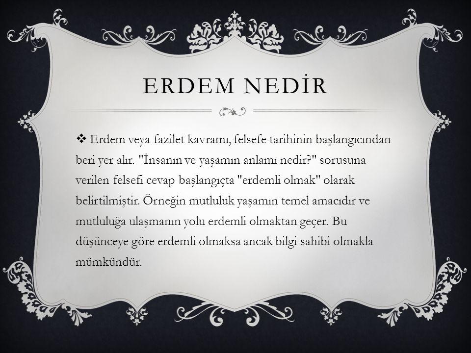 ERDEM NEDİR