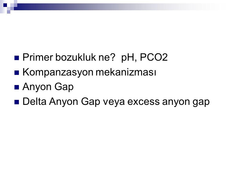Primer bozukluk ne pH, PCO2