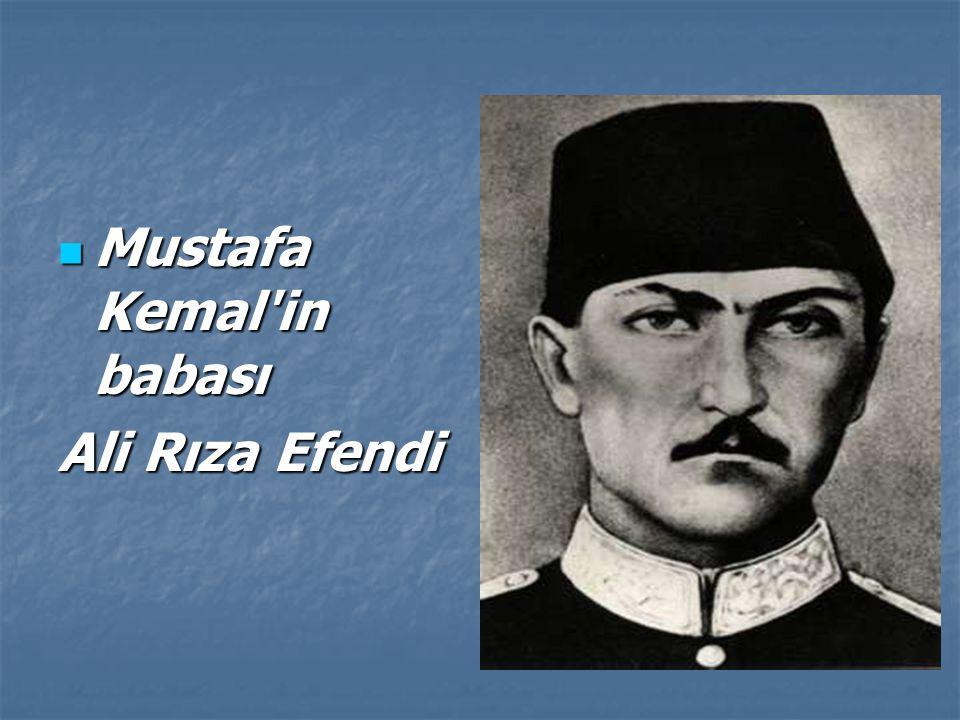 Mustafa Kemal in babası
