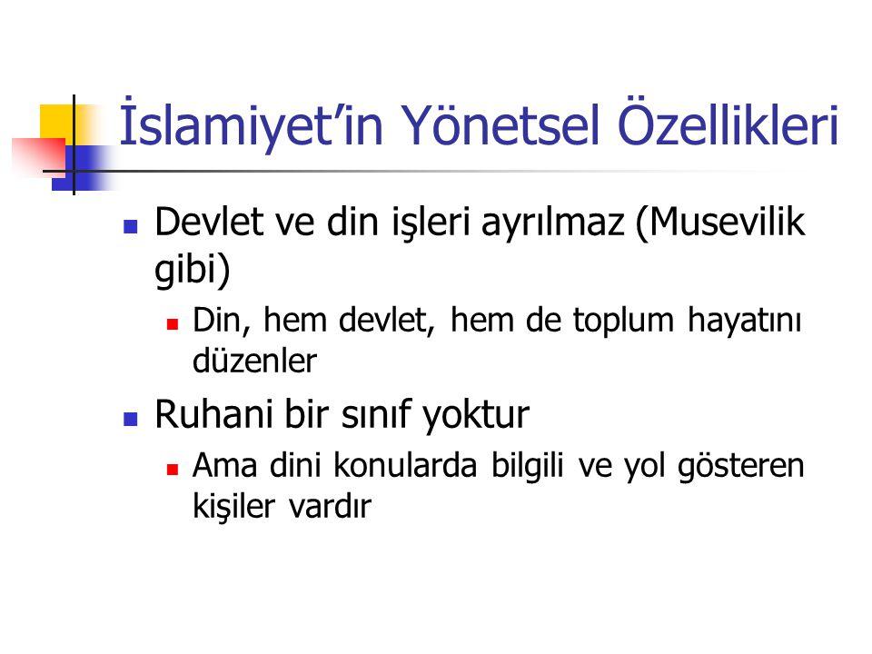 İslamiyet'in Yönetsel Özellikleri