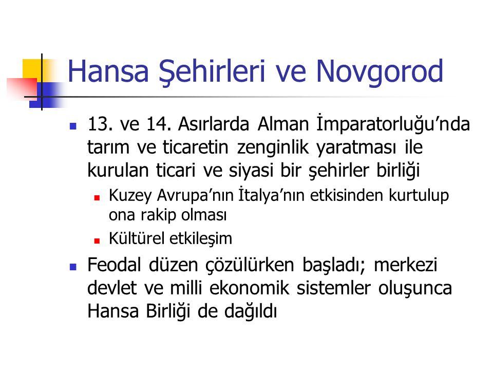 Hansa Şehirleri ve Novgorod