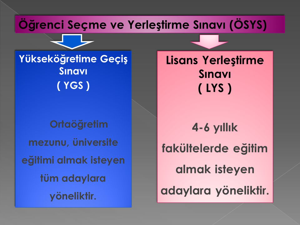Öğrenci Seçme ve Yerleştirme Sınavı (ÖSYS)