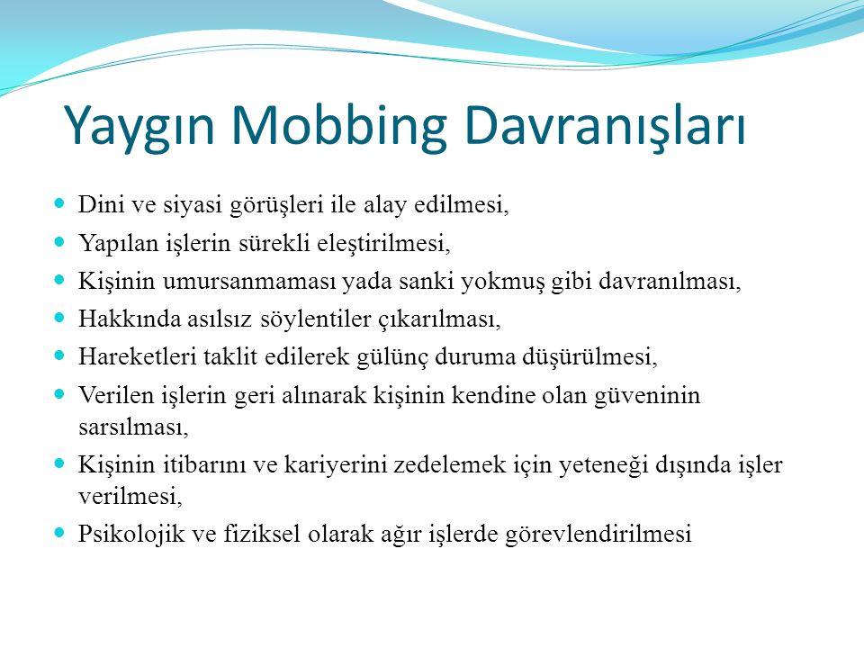Yaygın Mobbing Davranışları