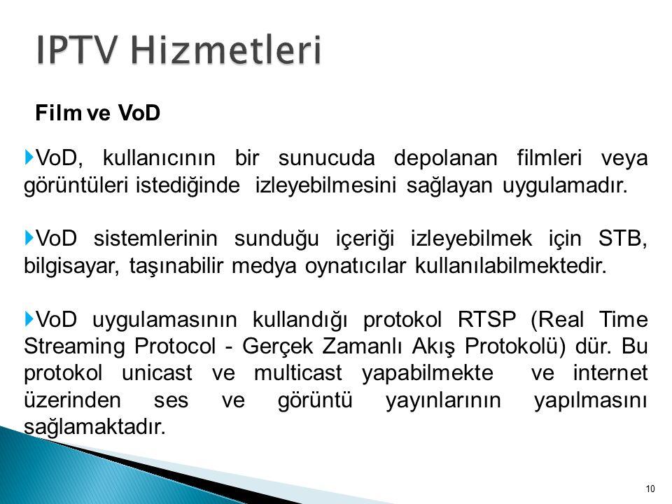 IPTV Hizmetleri Film ve VoD