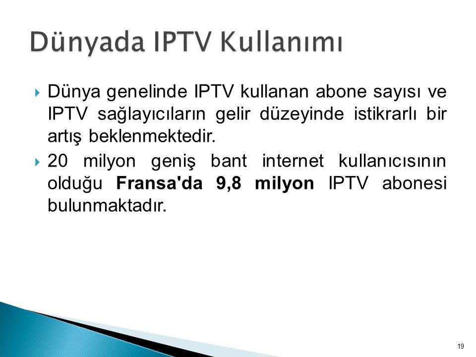 Dünyada IPTV Kullanımı