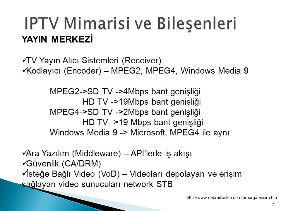 IPTV Mimarisi ve Bileşenleri