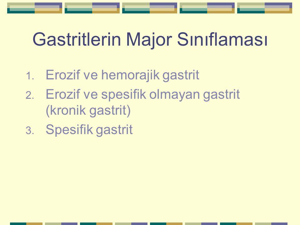 Gastritlerin Major Sınıflaması