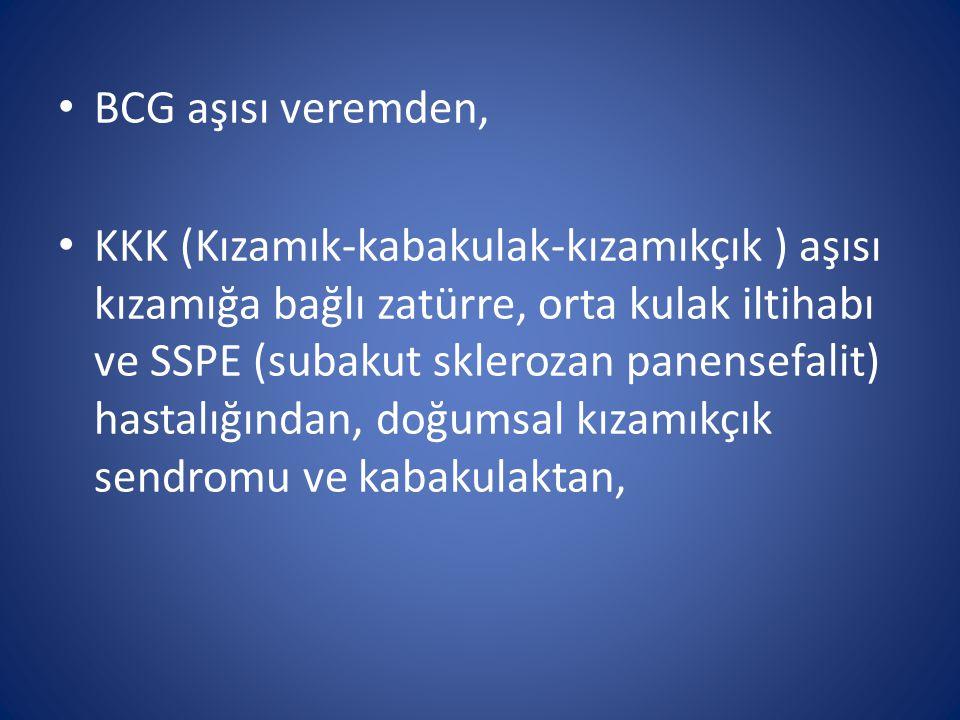 BCG aşısı veremden,