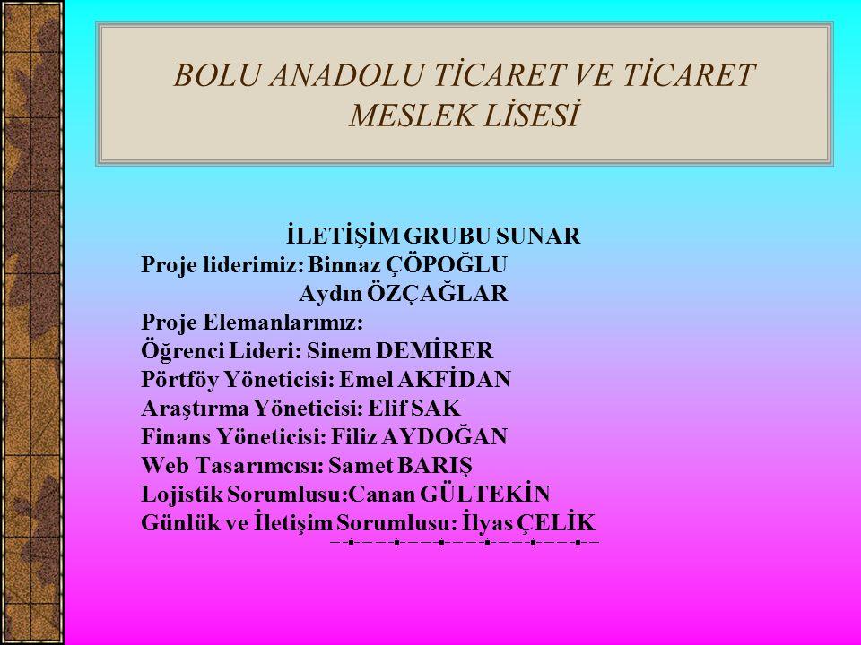 BOLU ANADOLU TİCARET VE TİCARET MESLEK LİSESİ