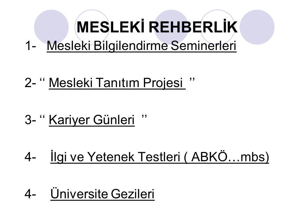 MESLEKİ REHBERLİK
