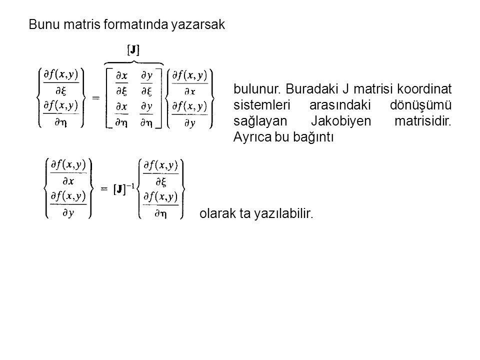 Bunu matris formatında yazarsak