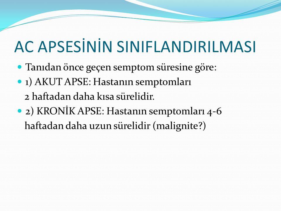 AC APSESİNİN SINIFLANDIRILMASI