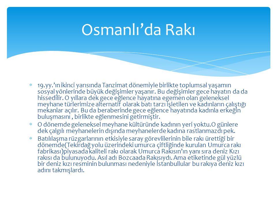 Osmanlı'da Rakı