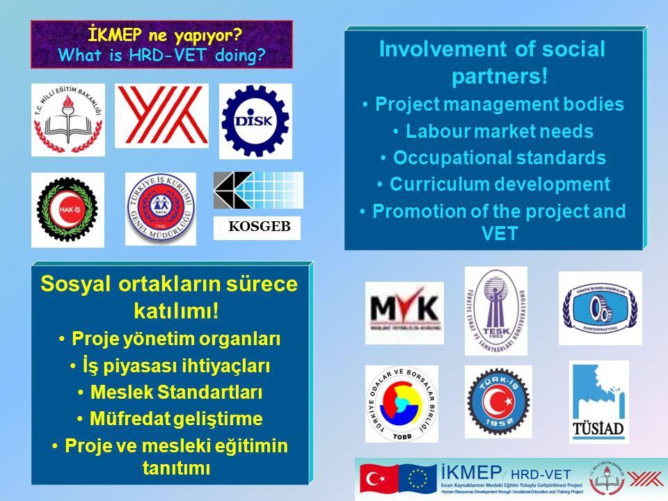 Involvement of social partners! Sosyal ortakların sürece katılımı!